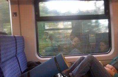 Mal wieder mit dem Zug unterwegs.