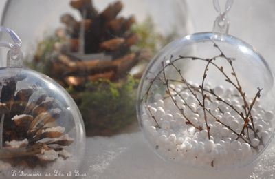 Boules de Noël inspiration nature (tuto video)