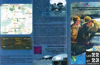 Reconstitution historique sur la Ligne Maginot, secteur Boulay