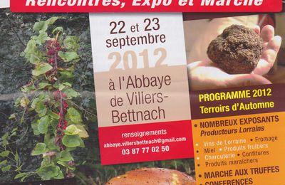 Terroirs d'automne à Villers-Bettnach les 22 et 23 septembre 2012