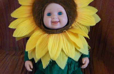 Grand tournesol d'Anne Geddes