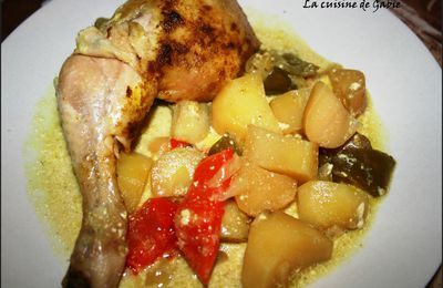 Poulet au curry mijoteuse
