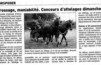 Article paru dans le Télégramme le 07 mars 2012
