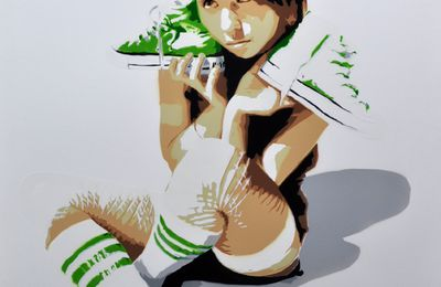 """My green shoes"" sketch"