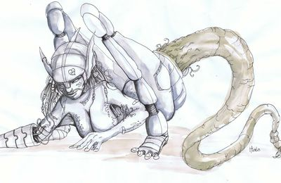 ILLUSTRATION : Cybermutante par Kim Minel
