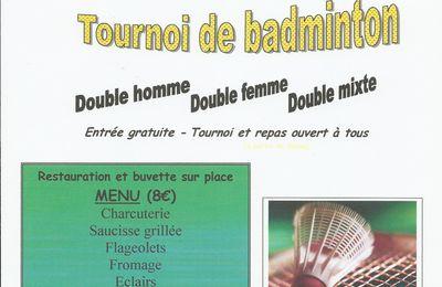 Bientôt le 3ème tournoi de BADMINTON à ROUEZ