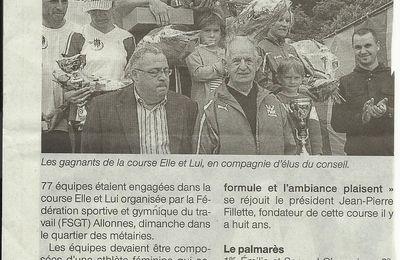 """record de participants à la course """"ELLE et LUI"""""""