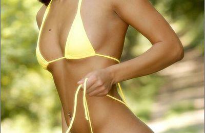 Brune bikini babe