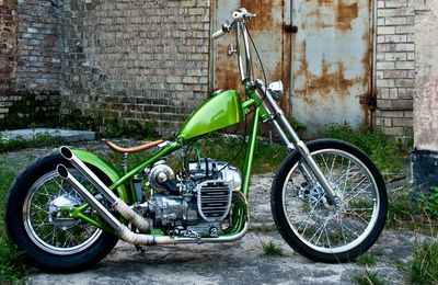 radical flat twin : dnepr chopper