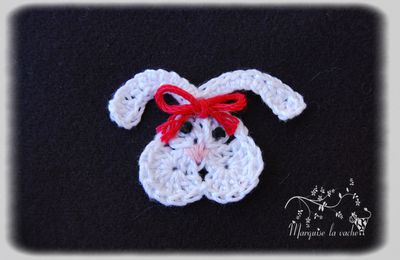 Applique Lapin au crochet