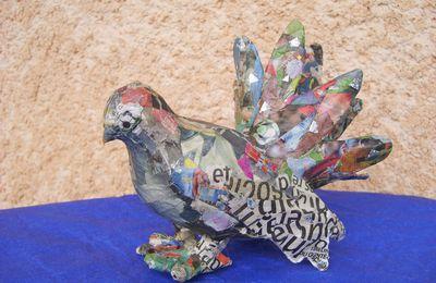 Pour sa fête, une colombe en papier