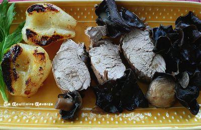 mignons de porc aux poires sauce champignons