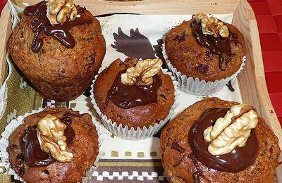 muffins aux airelles et aux noix du Périgord