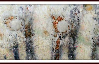 teinture sur toile de lin!!!!Catherine Alfaré de St Nazaire