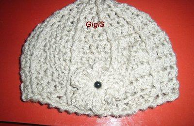 Un bonnet au crochet, 2ème partie,....................