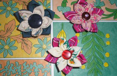 fleurs en tissus