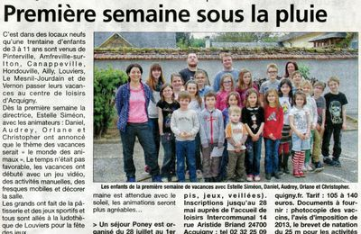 Acquigny, le 9 mai 2014 : centre de loisirs