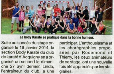 Acquigny, le 16 mai 2014 : body karate