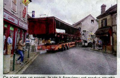 Acquigny, le 14 juin 2014 : les poids lourds