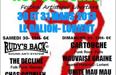 Festival artistique libertaire Unies sont nos cultures à Lorient