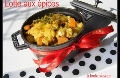 Mini cocotte de lotte aux épices ( curcuma, cumin,curry,gingembre)