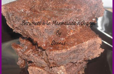 BROWNIES A LA MARMELADE D'ORANGE