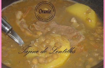TAJINE DE LENTILLES