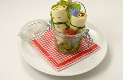WRAPS POULET COURGETTES ETC... A LA MEXICAINE