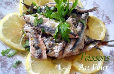 """fish """" sardine"""" with parsley, in the oven"""