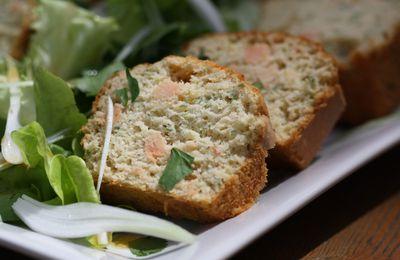 Cake au saumon et persil