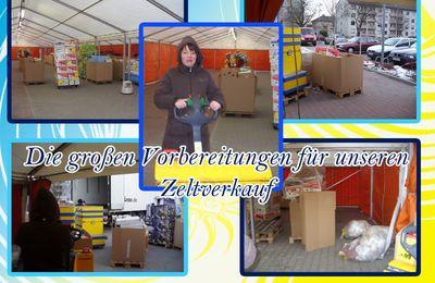 Großer Zeltverkauf vor meiner Lidl Filiale