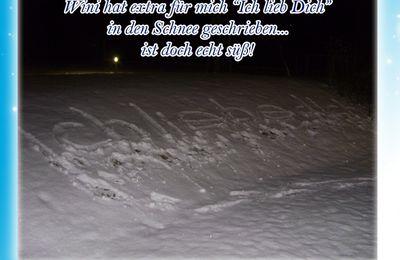 Liebesbotschaften im Schnee