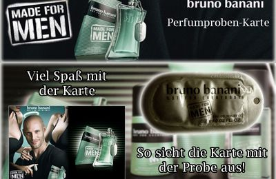 Postkarten-Duftprobe von bruno banani Made for Men