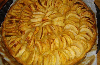 Première tarte aux pommes.