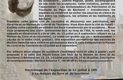 Ete 2013 : les sculptures de Martine Salavize dans les jardins de Bécherel