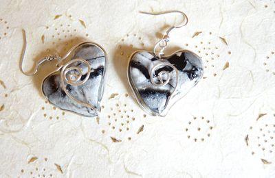 Coeur mokumé et wire - B0