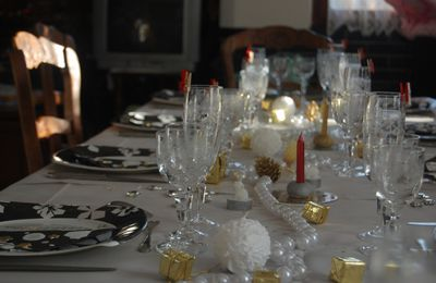 Table de fêtes d'avant Noel