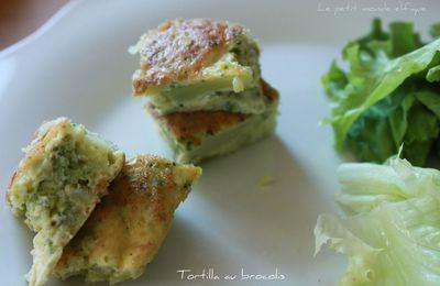 Tortilla au brocolis et ciboulette