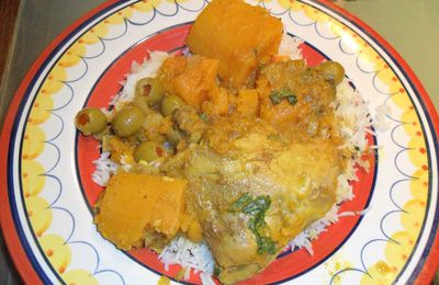 Chicken-butternut tajine