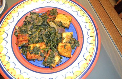 Paneer with spinach
