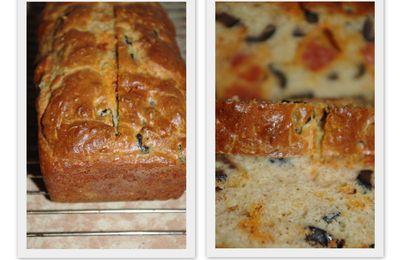 Cake chorizo olives noires