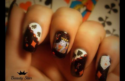 NAIL ART JEU DE CARTES