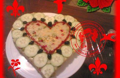Salade en forme de coeur