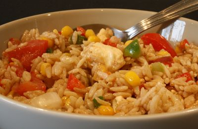 Salade de riz : Plus on est de fou... plus on Riz!