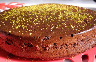 Le Carrot and Chocolat cake, sans beurre, et presque sans sucre...