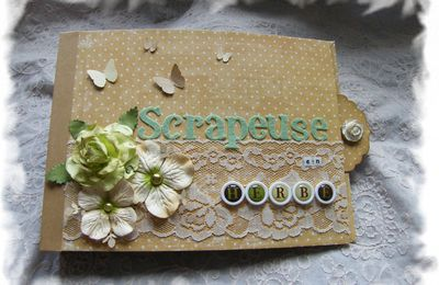 mini album waterfall : scrapeuse en herbe