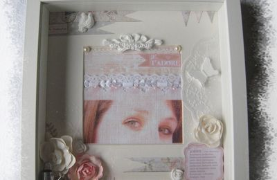 Un cadre shabby tendresse.