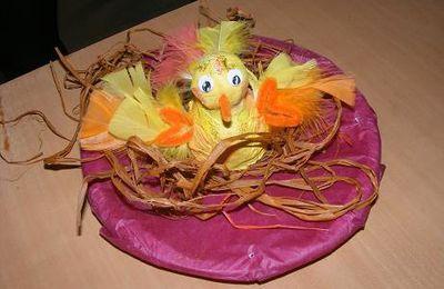 Poussin de Pâques en argile