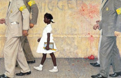 THE PROBLEM WE ALL LIVE WITH by Norman Rockwell (10 C class)