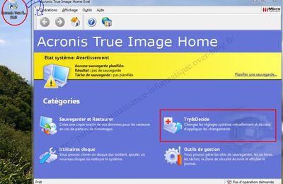 Mode test copie virtuelle dans la zone de sécurité acronis